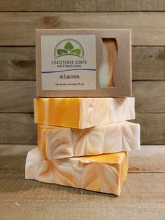 The Satsuma orange essence paired with champagne scent gives the traditional mimosa fragrance we have all come to love on a Sunday brunch! Satsuma Orange, Vegan Soap, Sunday Brunch, Soap Making, Soaps, Fragrance, Canning, Drinks, Food