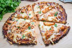 BBQ Chicken Cauliflower Crust Pizza Cauliflower Pizza Crust (with BBQ Chicken Pizza) Chicken Cauliflower, Cauliflower Crust Pizza, Cooking Cauliflower, Cauliflower Recipes, Califlower Crust, Cauliflower Tortillas, Cauliflower Salad, Roasted Cauliflower, Healthy Pizza
