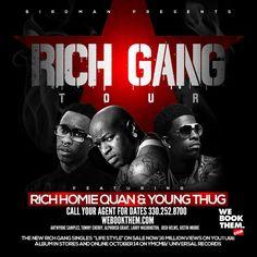 Book Rich Gang Tour starring Young Thug & Rich Homie Quan.