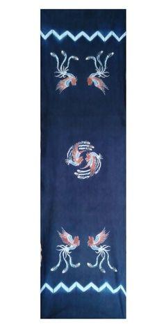 INDIGO SHIBORI + BATIK TULIS ( hand painting )