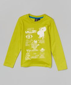 Love this Lemon 'Monster Gallery' Tee - Toddler & Kids by Off Set on #zulily! #zulilyfinds