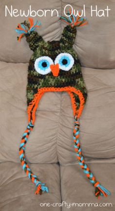 Newborn Crochet Owl Hat... i think my baby brother needs one of these ;)