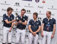 Luke Tomlinson, Charley Law, George Meyrick, HRH The Duke of Cambridge attend the Maserati Royal Charity Polo Trophy at Beaufort Polo Club on June 18, 2016 in Tetbury, England. (Photo by Chris Jackson/Getty Images for Maserati and La Martina) *** Local Caption *** Prince William; Luke Tomlinson; Charley Law; George Meyrick