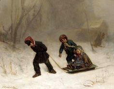 returning-from-the-wood-in-winter.jpg 550×429 piksel