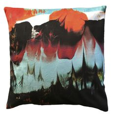"""Handmade RADOST Throw Pillow $54 * DREAMING OF COLOR (MULTICOLOR) * Removable insert; washable cover * Material: Minky (100% polyester) * Dimensions: 16"""" high x 16"""" wide * Pillow cover care instructions: Machine wash cold and line dry; do not bleach."""