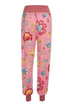 PiP Billy Floral Fantasy Trousers Pink