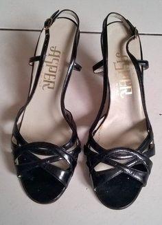 Kup mój przedmiot na #vintedpl http://www.vinted.pl/damskie-obuwie/sandaly/15767283-czarne-sandalki-obcas-skora-wloskie