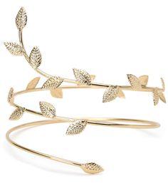 Gold Boho Goddess Wrap Arm Cuff