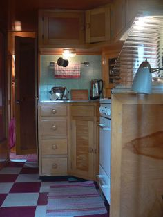 Vintage trailer kitchen