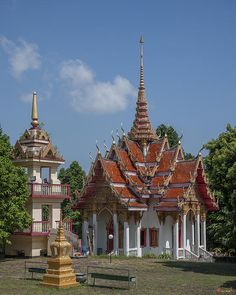 2012 Photograph, Wat Ket Ho Wihan and Bell Tower, Tambon Kathu, Kathu, Phuket, Thailand, © 2014.  ภาพถ่าย ๒๕๕๕ วัดเก็ตโฮ่ พระวิหาร และ หอระฆัง ตำบลกะทู้ อำเภอกะทู้ ถูเก็ต ประเทศไทย
