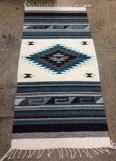 Wool Floor Runners by Cream – Yee Haw Ranch Outfitters Western Kitchen Decor, Rustic Western Decor, Le Style Navajo, Aztec Style, Aztec Blanket, Southwest Rugs, Aztec Decor, Floor Runners, Navajo Rugs