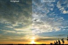 Kontrast und Farbe verbessern bei Sonnenuntergängen
