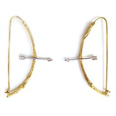 K Brunini - Twig Arrow Earrings  I'm in love with these! Very Hunger Games ~AriesA