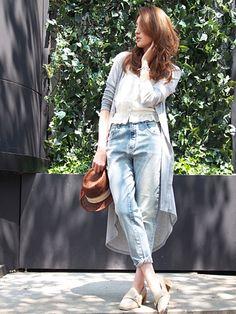 Ungrid(アングリッド)のジーンズ「【Casual】ハイウエストデニム」のカラーやサイズごとの在庫、セール情報のページです。