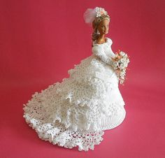 White Crochet Bridal DollCrochet Bridal by IrmasElegantBoutique, $150.00