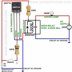 Transistor 2N2714 Switching Reed Relay EDR201A05 | IamTechnical.com