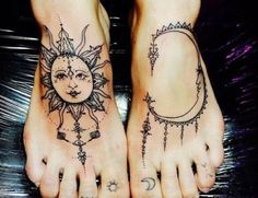 Traumfänger Tattoo Sonnen Motiv Fuss
