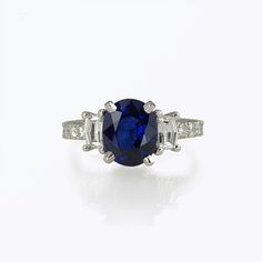Custom Made Sapphire And Diamond Engagement Ring For Nicole.
