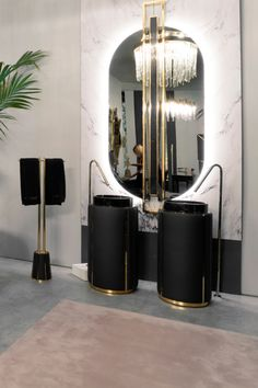 The Darian Collection flawlessly combines ruggedness and lusciousness, making for an imposing yet feminine decor! You can discover all the pieces of this collaboration between Maison Valentina and by visiting our stocklist - link in bio! Kid Bathroom Decor, Bathroom Wall Decor, Modern Bathroom, Target Bathroom, Bathroom Vinyl, Gold Bathroom, Washroom, Bathroom Furniture, Luxury Furniture