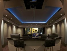 Modern Home Movie Theater Lighting With In The Home Theater Design ...