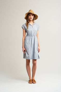 Boho/Summer look:  Plain shirt dress (denim or pastel coloured linen) with simple leather sandals for a toned down vintage look. Add a straw hat if it is extra sunny :)