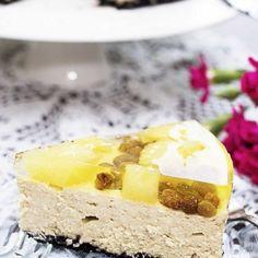 Sernik cappuccino z ananasem i galaretką Feta, Camembert Cheese, Oreo, Panna Cotta, Cheesecake, Pudding, Ethnic Recipes, Cakes, Cook