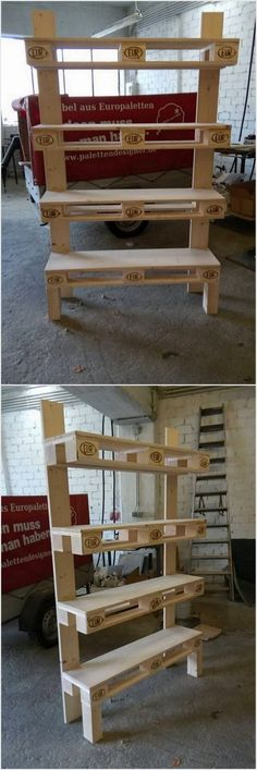 Recycled Pallet Project- pallet shelving unit
