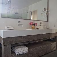Eric Olsen Design - bathrooms - salvaged wood washstand