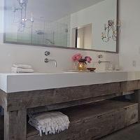 Eric Olsen Design - bathrooms - salvaged wood washstand