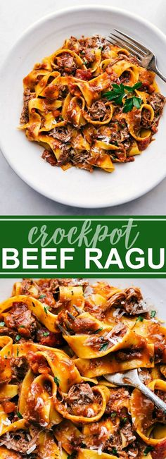 Beef ragu made in the crockpot (slow cooker) and served over pappardelle pasta. … Beef ragu made in the crockpot (slow cooker) and served over pappardelle pasta. via chelseasmessyapro… Elk Meat Recipes, Hamburger Meat Recipes Easy, Crock Pot Recipes, Crockpot Meat, Smoked Meat Recipes, Ground Meat Recipes, Meat Recipes For Dinner, Healthy Crockpot Recipes, Beef Ragu Slow Cooker