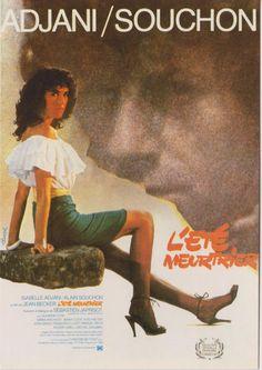 """Affiche de """"L'Eté Meurtrier"""", réalisé par Jean Becker."""