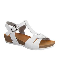 Another great find on #zulily! White Roy Sandal by TOP MODA #zulilyfinds