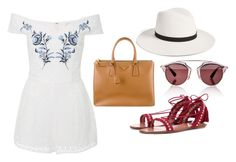 """Summer feels"" by blogdisilvia on Polyvore featuring Alice McCall, Christian Dior, Aquazzura, Prada and Janessa Leone"