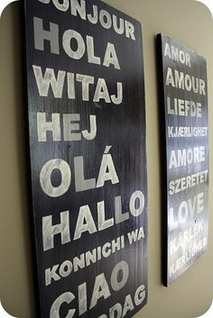 This is SO going to my living room walls ... DIY: Wood + Paint = FUN!