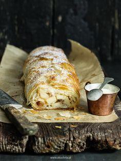 Strudel jabłkowy z ciasta filo z kremem anglaise | o kuchnia Blog kulinarny ze smacznymi przepisami na dania sezonowe z lokalnych produktów.