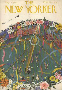 Mayday, May 1, Maypole, Illustration, The New Yorker, Vintage Magazine