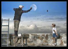 Dipingere la Luna...