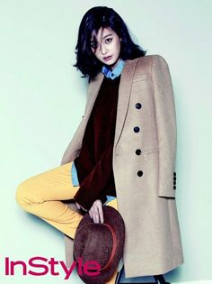 Oh Yeon Seo takes on mannish fashion for fall in 'InStyle'