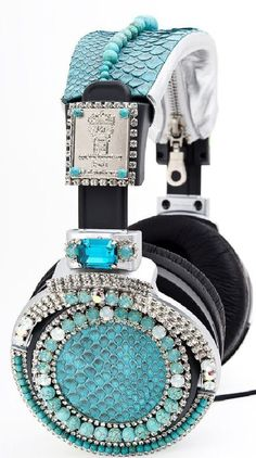 Image detail for -Get Your Bling On With Sony SWAROVSKI Headphones Amazon.com ...