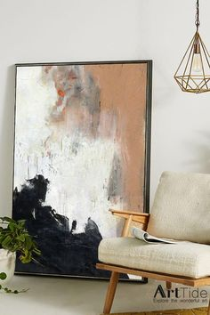 Handmade Oil Painting On Canvas Abstract Painting Alfred H Barr Modern Abstract Prints Deer Abstract Painting Famous Painters Century Animal Oil Painting Abstract Canvas Art, Oil Painting Abstract, Abstract Oil Paintings, Large Canvas Art, Painting Art, Watercolor Painting, Orange Painting, Black Painting, Flag Art