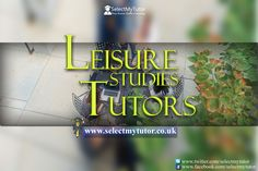 Are you an #LeisureStudies tutor? Register with us today for free.  #tutors #personaltutor #hometutor #privatetutor http://www.selectmytutor.co.uk