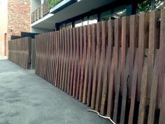 Front fence, Melbourne apartment building [rps]