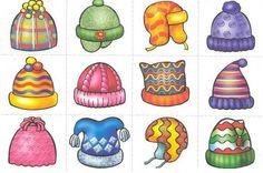Hats for snowmen Card Games For Kids, Winter Activities For Kids, Winter Crafts For Kids, Winter Kids, Toddler Preschool, Preschool Crafts, Winter Theme, Clipart, Kindergarten