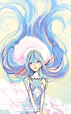 Aqua is 90% hair (*゚∀゚*)