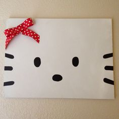 Hello Kitty on canvas... This is in my bedroom!