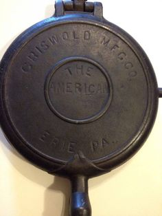 Antique, The Griswold MFG Co., The American No. 8, waffle iron, cast iron 1880