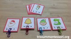 December Initial Letter Clip Cards