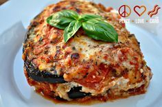 Eggplant Lasagna with Meat Sauce - Carbs – 9 net g per serving - For meat sauce use beef, ground turkey, chicken, pork... Any kind of meat you prefer | Peace, Love, and Low Carb