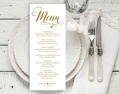Navy Watercolour Editable Printable Wedding Menu Template 030 Instant Download Wedding Template DIY Wedding Menu Corjl 100/% Editable
