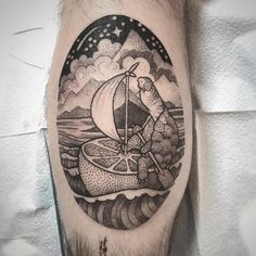Tattoo artist Susanne Suflanda Konig black and grey illustrative graphic animals tattoo | Germany, United Kingdom | #inkpplcom #surrealism #blacktattoo #blackandgrey #dotwork #illustrativetattoo #animals #animalstattoo #graphic #blackwork